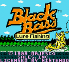 Black Bass - Lure Fishing title screenshot