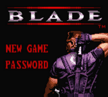 Blade title screenshot