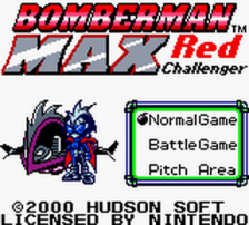 Bomberman Max - Red Challenger title screenshot