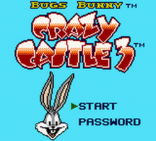Bugs Bunny - Crazy Castle 3 title screenshot