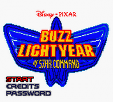 Buzz Lightyear of Star Command title screenshot
