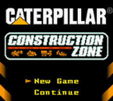 Caterpillar Construction Zone title screenshot