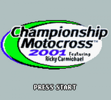 Championship Motocross 2001 featuring Ricky Carmichael title screenshot