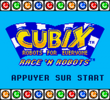 Cubix - Robots for Everyone - Race 'n Robots title screenshot