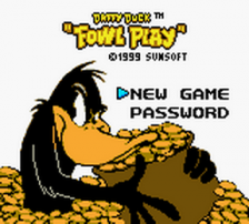 Daffy Duck - Fowl Play title screenshot