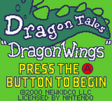 Dragon Tales - Dragon Wings title screenshot