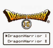 Dragon Warrior I & II title screenshot