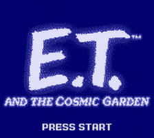 E.T. and the Cosmic Garden title screenshot
