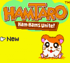 Hamtaro - Ham-Hams Unite! title screenshot