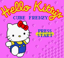 Hello Kitty's Cube Frenzy title screenshot