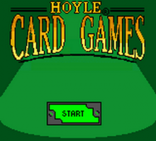 Hoyle Card Games title screenshot