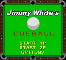 Jimmy White's Cueball title screenshot