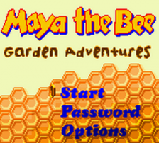 Maya the Bee - Garden Adventures title screenshot