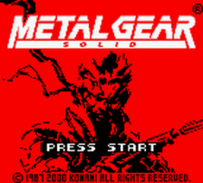 Metal Gear Solid title screenshot