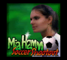 Mia Hamm Soccer Shootout title screenshot
