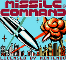 Missile Command title screenshot