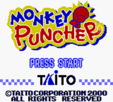 Monkey Puncher title screenshot