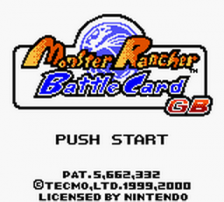 Monster Rancher Battle Card GB title screenshot