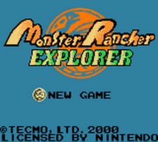 Monster Rancher Explorer title screenshot