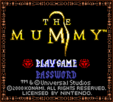 Mummy, The title screenshot