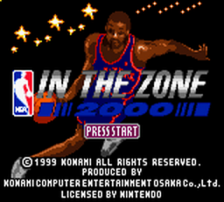 NBA In the Zone 2000 title screenshot