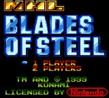 NHL Blades of Steel title screenshot