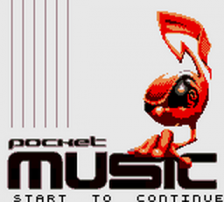 Pocket Music title screenshot