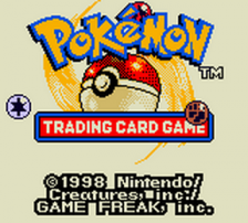 Pokemon Trading Card Game title screenshot