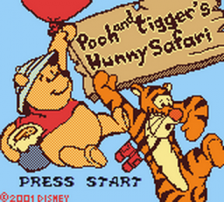 Pooh and Tigger's Hunny Safari title screenshot