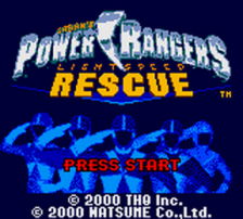 Power Rangers - Lightspeed Rescue title screenshot