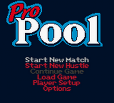 Pro Pool title screenshot