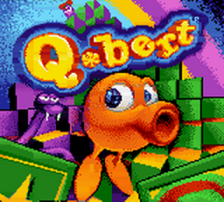 Q-bert title screenshot