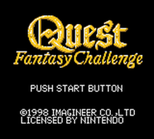 Quest - Fantasy Challenge title screenshot