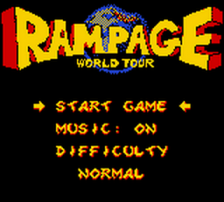 Rampage - World Tour title screenshot
