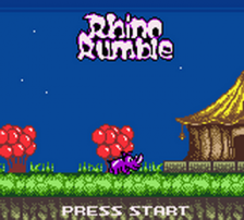 Rhino Rumble title screenshot