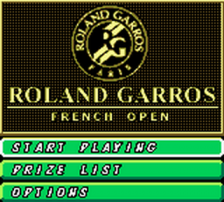 Roland Garros French Open title screenshot