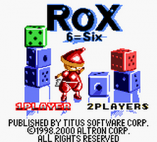 Rox title screenshot