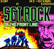 Sgt. Rock - On the Frontline title screenshot