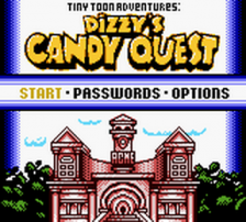 Tiny Toon Adventures - Dizzy's Candy Quest title screenshot