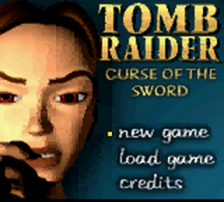 Tomb Raider - Curse of the Sword title screenshot