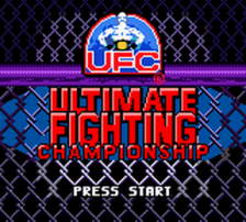 Ultimate Fighting Championship title screenshot
