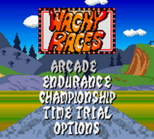 Wacky Races title screenshot