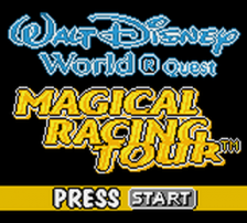 Walt Disney World Quest - Magical Racing Tour title screenshot