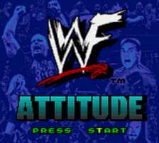 WWF Attitude title screenshot
