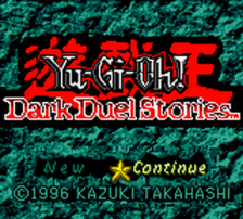 Yu-Gi-Oh! - Dark Duel Stories title screenshot