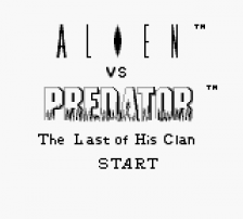 Alien vs Predator - The Last of His Clan title screenshot