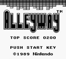 Alleyway title screenshot