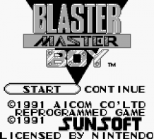 Blaster Master Boy title screenshot