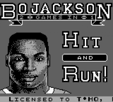 Bo Jackson - Two Games in One title screenshot