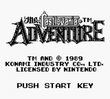Castlevania Adventure, The title screenshot